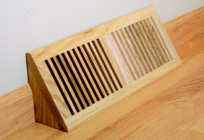 Basevent in Trimline Style, wood basevent, oak basevent