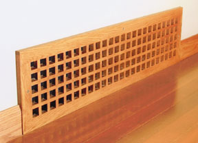 eggcrate wood vent, wood grill