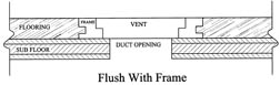 flush with frame wood vent sketch