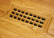 flush with frame eggcrate wood vent