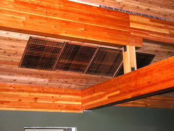 ceiling mount wood vents